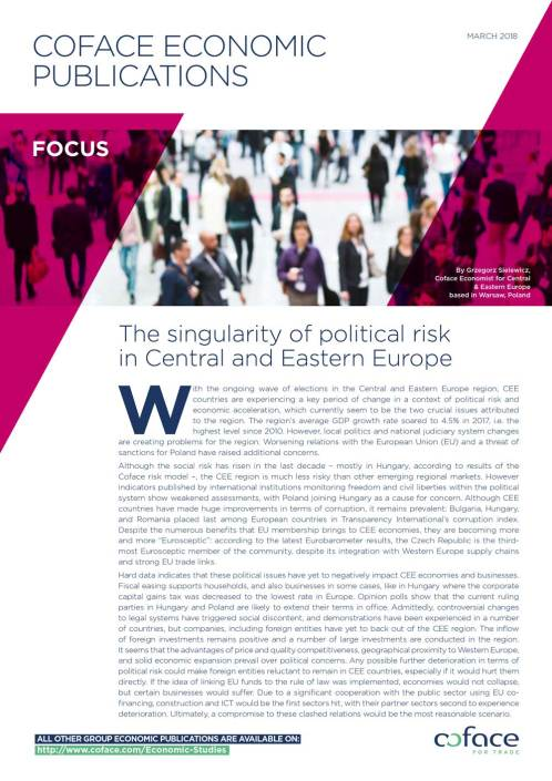 The singularity of political risk in Central and Eastern Europe
