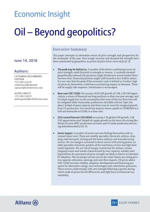 Oil - Beyond geopolitics?