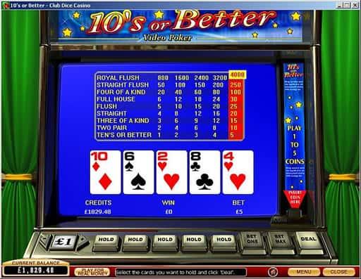 オンラインカジノで遊べるビデオポーカーについて
