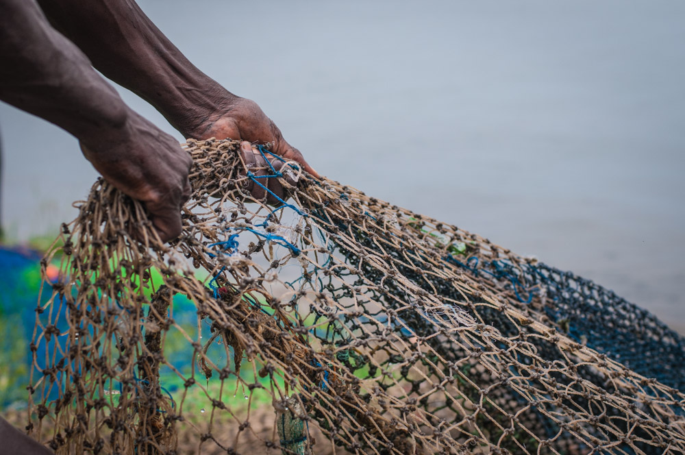 Les filets de pêche à Rusinga Island
