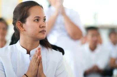 Chaya, pendant un moment de prière