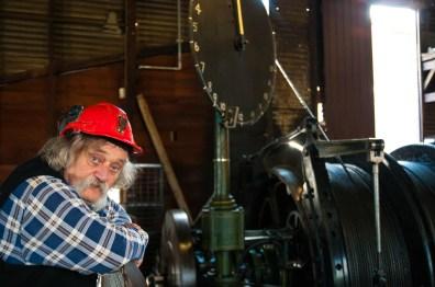 Visite de la mine de Bendigo en compagnie de Laurie, dans la salle où l'on faisait remonter les mineurs