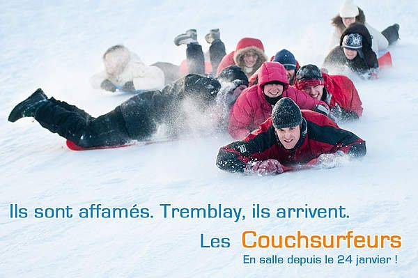 du pepete ski version collective, sur les plaines d'Abraham. Illustration faite en clein d'oeil aux amis de couchsurfing... Tremblay est un nom de famille récurrent au Québec.