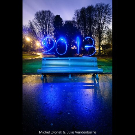 nouvel an 2013 lightpainting / © Du Monde au Tournant