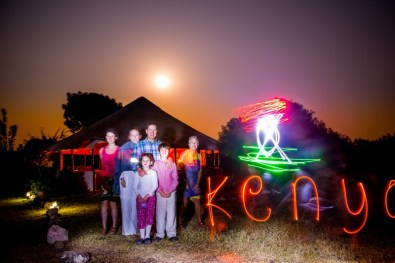 Kenya lightpainting / © Du Monde au Tournant
