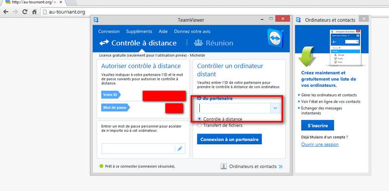 accès à un ordinateur à distance avec Teamviewer