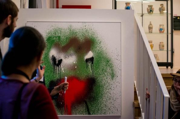 la grenouille de KATSU peinte au drone