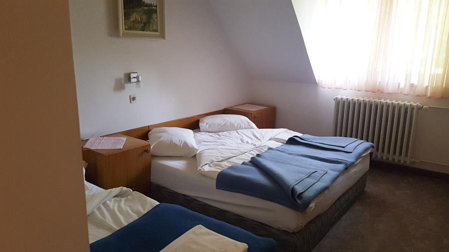 Chambre triple dans le Parc national de Risnjak