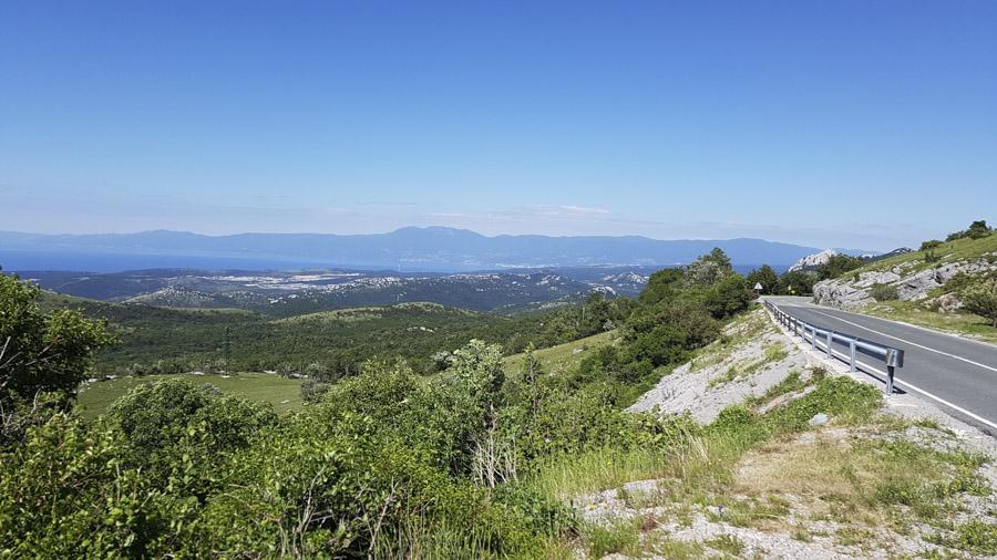 la route entre Delnice et Rijeka
