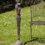 Eisen Skulptur Statue Liebe Paar Moderne Garten 98cm Aubaho
