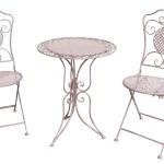 Gartenset Tisch 2 Stuhle Eisen Antik Stil Gartengarnitur Rosa Bistroset Metall Ebay