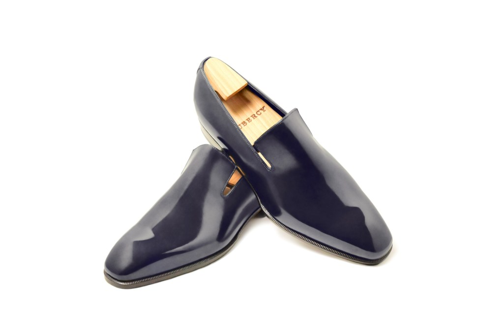 Le mocassin loafer Sonio en cuir bleu