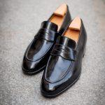 Le mocassin penny loafer barry en cuir noir