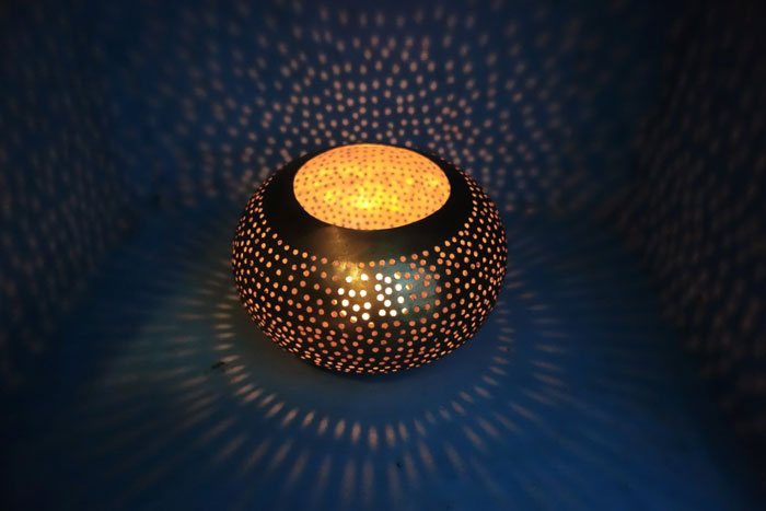 Lamp Decor At Desert Hotel Auberge Cafe Du Sud