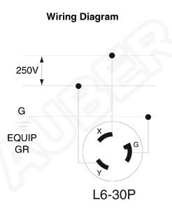 Leviton 240v 30a Nema L6 30p Plug For Heater L6 30p