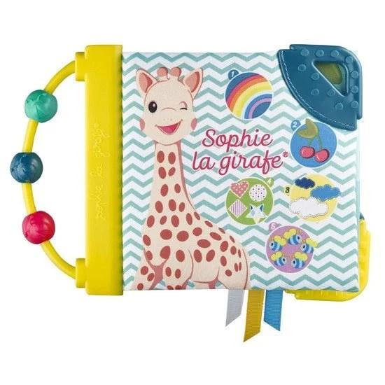 livre d eveil sophie la girafe multicolore
