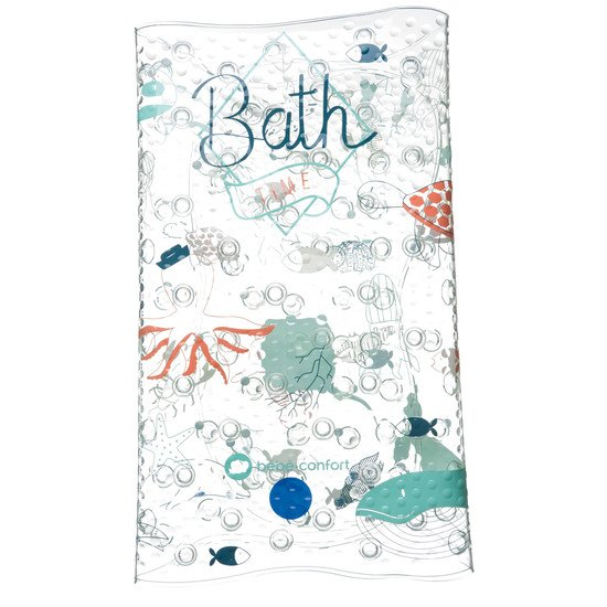 grand tapis de bain thermosensible water world bleu