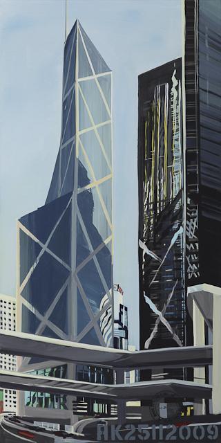Bank of China - Hong Kong - Tableau de Michelle Auboiron