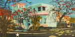 Villa à Miramar - Peinture de Cuba par Michelle Auboiron