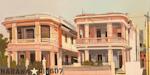Les maisons roses de la Havane - Tableau de Michelle Auboiron