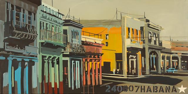 Les colonnes de la Havane - Peinture de Michelle Auboiron