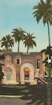 Villa mauresque à la Havane - Peinture de Michelle Auboiron