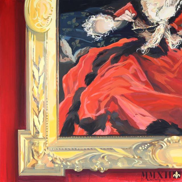 Optic 1785 peinture inspirée des tableaux de Versailles par Michelle AUBOIRON