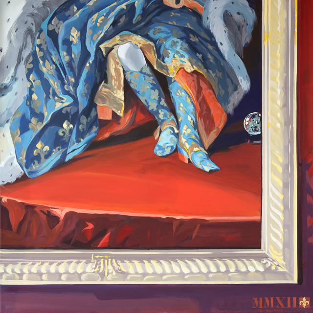 A ma Botte - Détournement des tableaux officiels du Château de Versailles par Michelle Auboiron