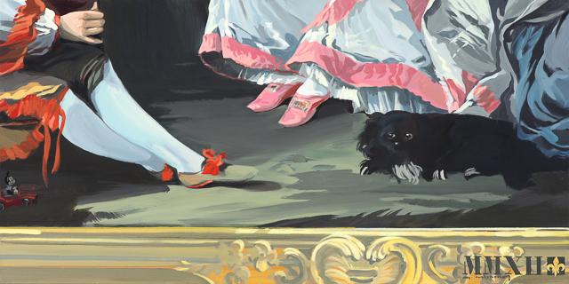 C'est un jeu d'enfant - Détournement des tableaux officiels du Château de Versailles par Michelle Auboiron