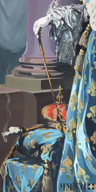 ma-vie-de-chateau-peinture-michelle-auboiron-15-fumer-tue-60x120