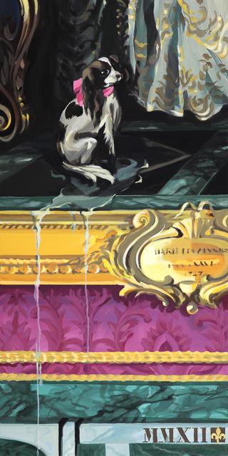 Mon bon plaisir - Détournement des tableaux officiels du Château de Versailles par Michelle Auboiron