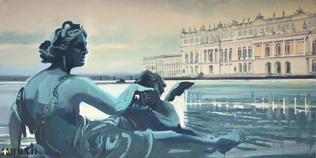 Peinture live du Parc du Château de Versailles par Michelle AUBOIRON