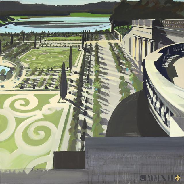 Les Jardins de l'Orangerie - Peinture du Parc du Château de Versailles par Michelle AUBOIRON