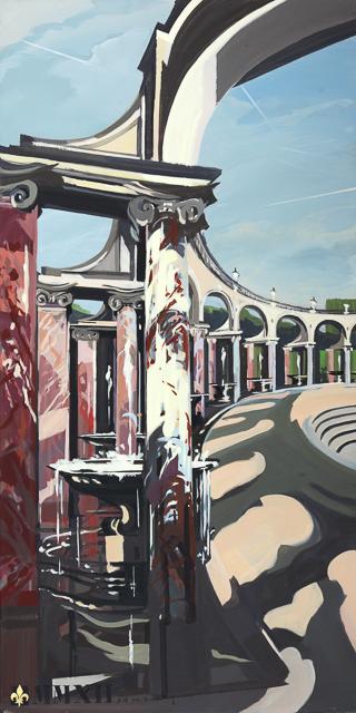 Le Bosquet de la Colonnade - Peinture du Parc du Château de Versailles par Michelle AUBOIRON