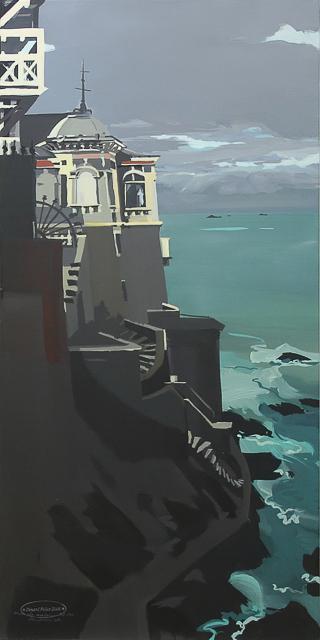Peinture de Dinard par Michelle Auboiron - Villa au kiosque