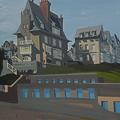 Peinture de la Villa Rosavel à Saint Enogat - Dinard - Bretagne - par Michelle AUBOIRON