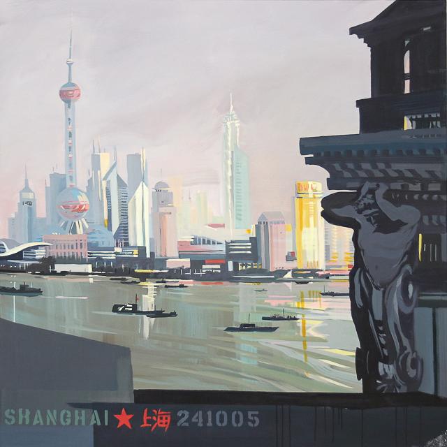 Peinture de Shanghai par Michelle AUBOIRON