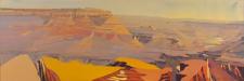 Peinture de l'Ouest américain par Michelle Auboiron - Grand Canyon - Arizona - Grand View