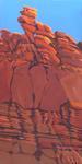 Peinture de l'Ouest américain par Michelle Auboiron - Hurra Pass - Moab - Utah