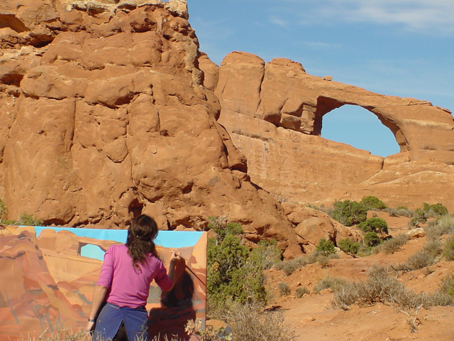 Skyline Arch - Arches National Park - Moab - Utah - Photo : Charles GUY - 2001