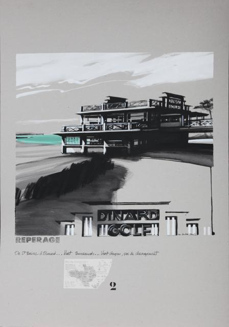 Le Golf de Dinard à Saint Briac - Peinture de Dinard par Michelle Auboiron - Acrylique sur carton 100 x 70 cm