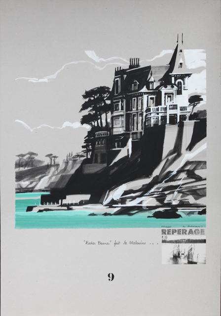 Villa Rochebrune - Port Salut - Peinture de Dinard par Michelle Auboiron - Acrylique sur carton 100 x 70 cm