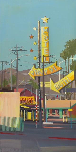 Strip 91 Motel - Série Motels des fifties (Las Vegas) - Peinture de Michelle AUBOIRON