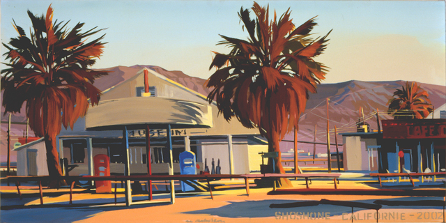 Shoshone - Série Motels des fifties (Las Vegas) - Peinture de Michelle AUBOIRON