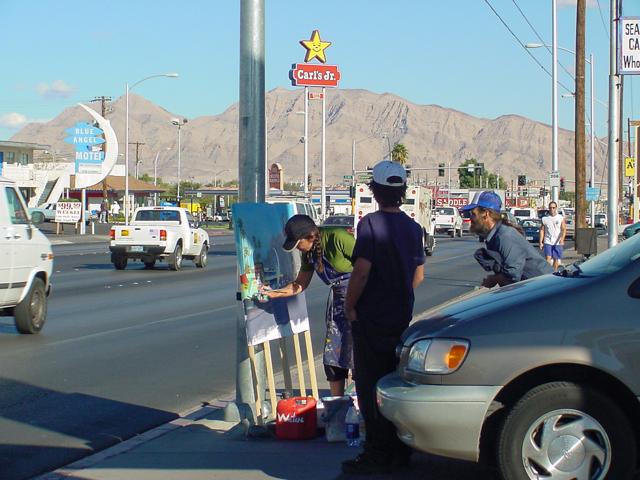 Michelle-Auboiron-Motels-of-the-50-s-peinture-live-a-Las-Vegas-22