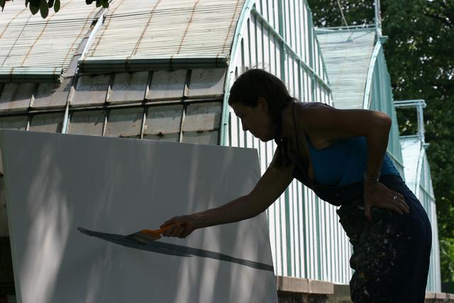 Michelle-Auboiron-peinture-live-aux-serres-d-auteuil-Paris-2004--6