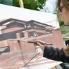 Robie-House-Frank-Loyd-Wright-Painting-Michelle-Auboiron-3 thumbnail
