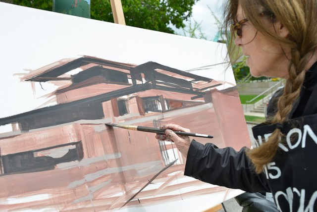 Robie-House-Frank-Loyd-Wright-Painting-Michelle-Auboiron-3