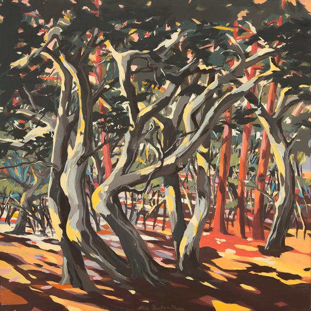 Ecorces - Peinture de Corse de Michelle Auboiron