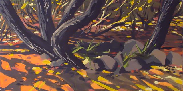 Souches - Cala Rossa - Peinture de Corse de Michelle Auboiron
